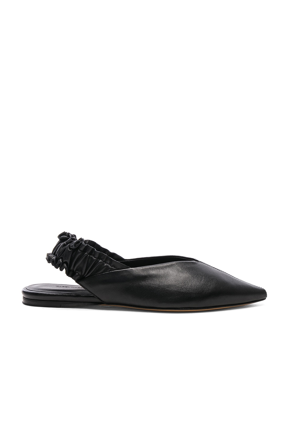 Image 1 of Isabel Marant Leather Linta Flats in Black