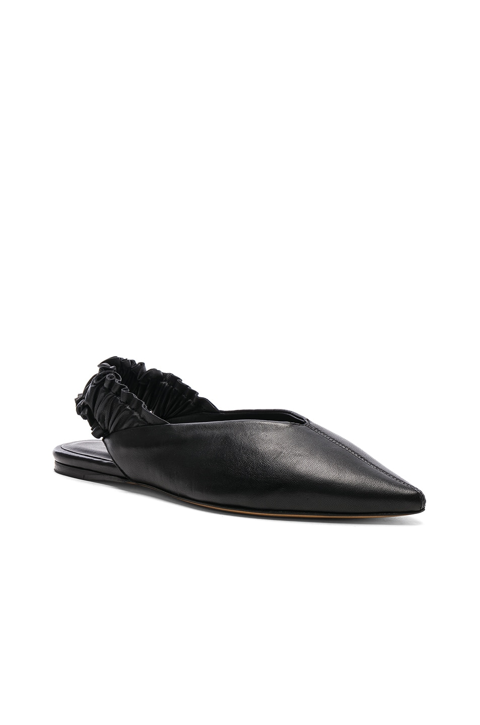 Image 2 of Isabel Marant Leather Linta Flats in Black