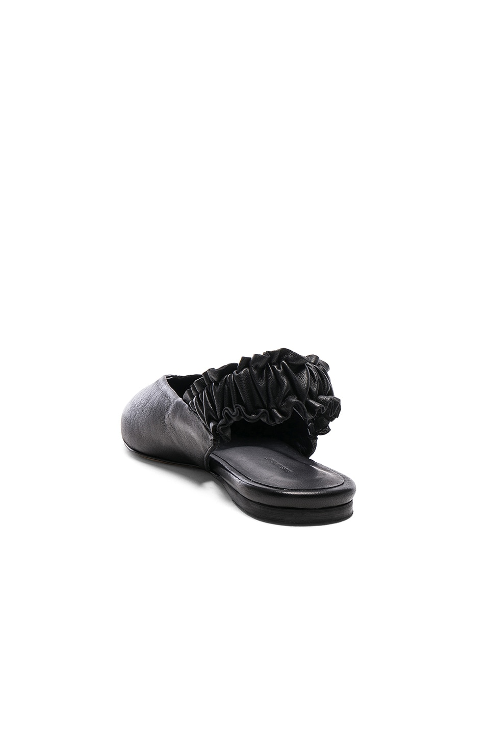 Image 3 of Isabel Marant Leather Linta Flats in Black