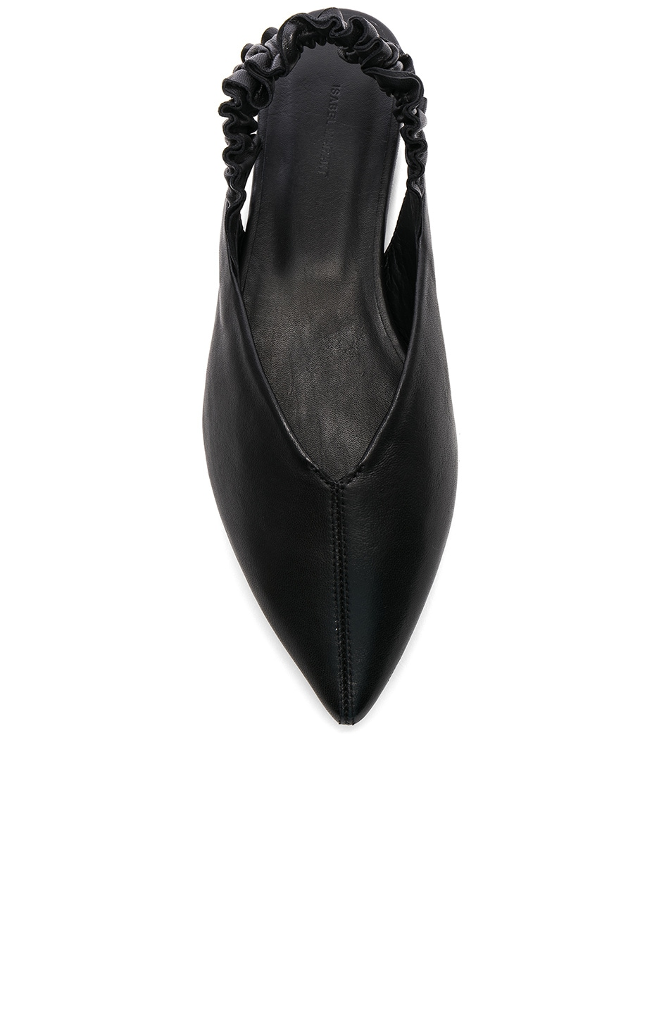 Image 4 of Isabel Marant Leather Linta Flats in Black