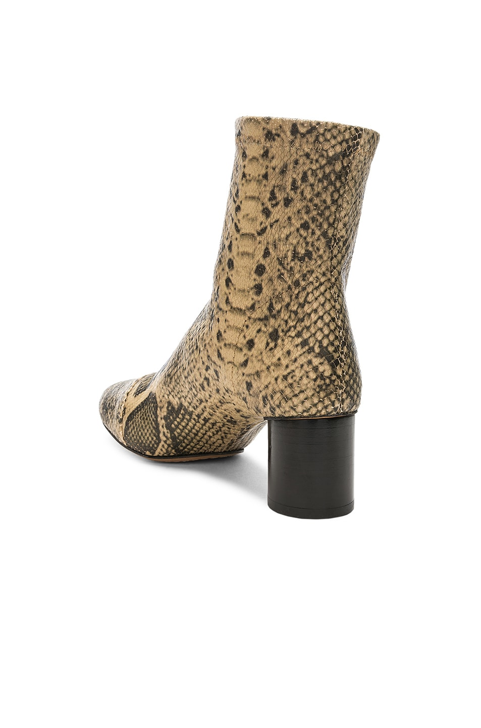 Isabel Marant Python Embossed Datsy Boots Natural good