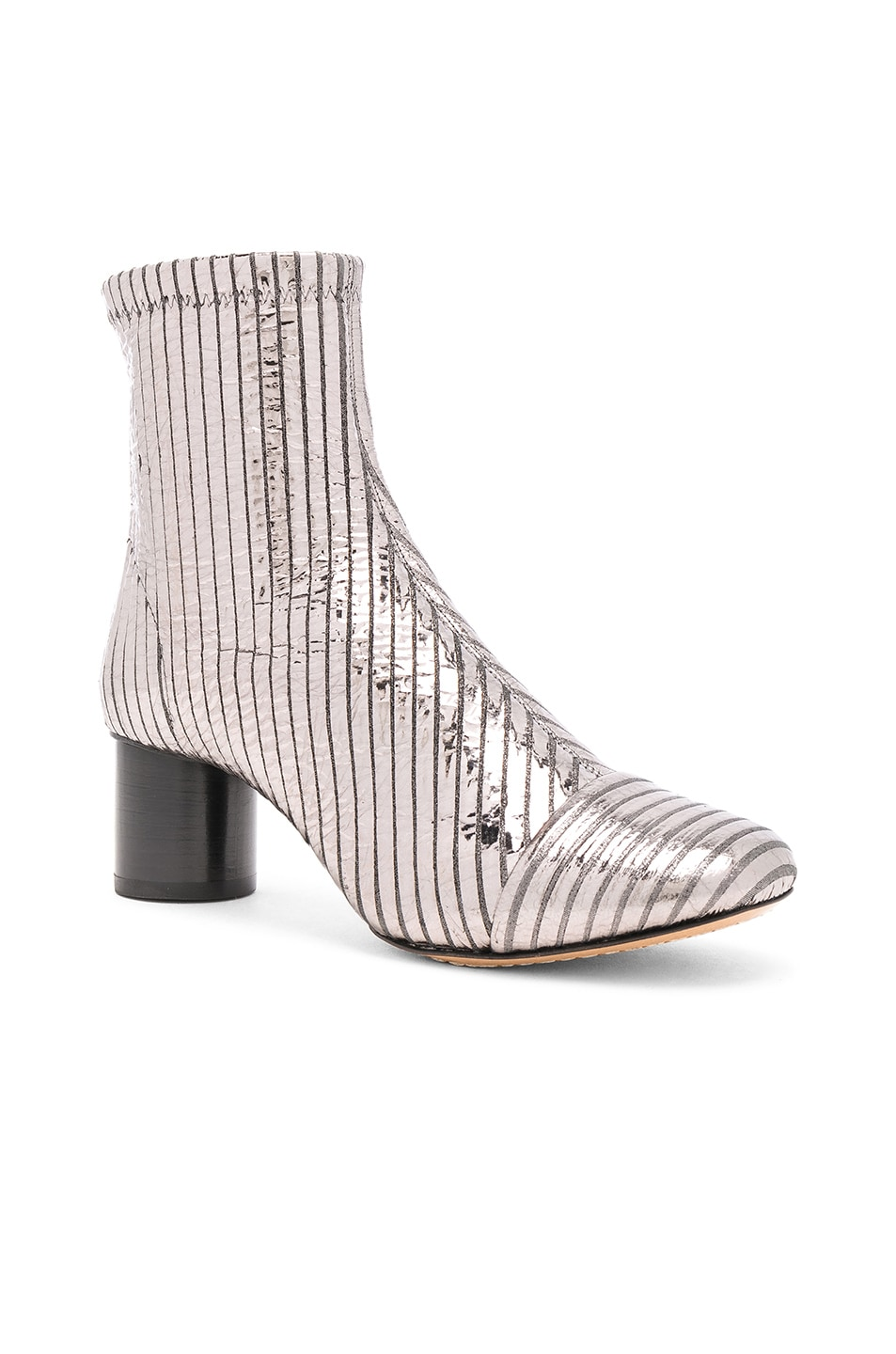 Image 2 of Isabel Marant Leather Datsy Boots in Silver