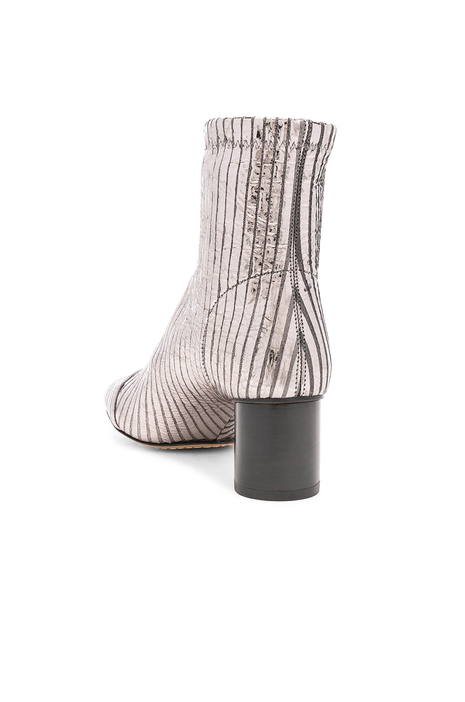 Image 3 of Isabel Marant Leather Datsy Boots in Silver