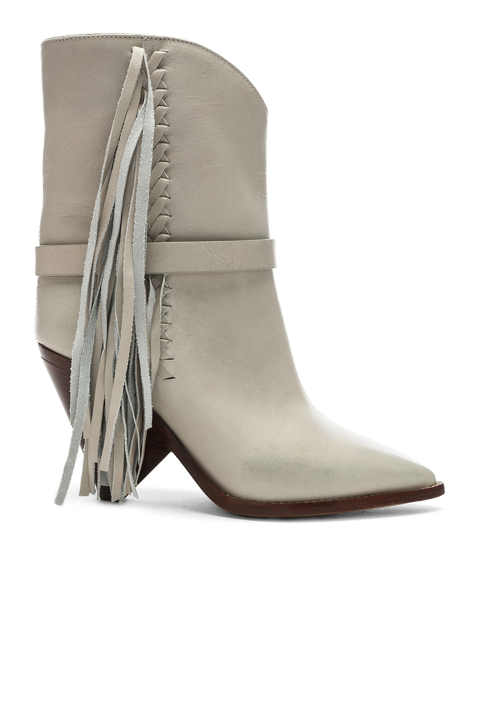 Image 1 of Isabel Marant Leather Loffen Boots in Chalk