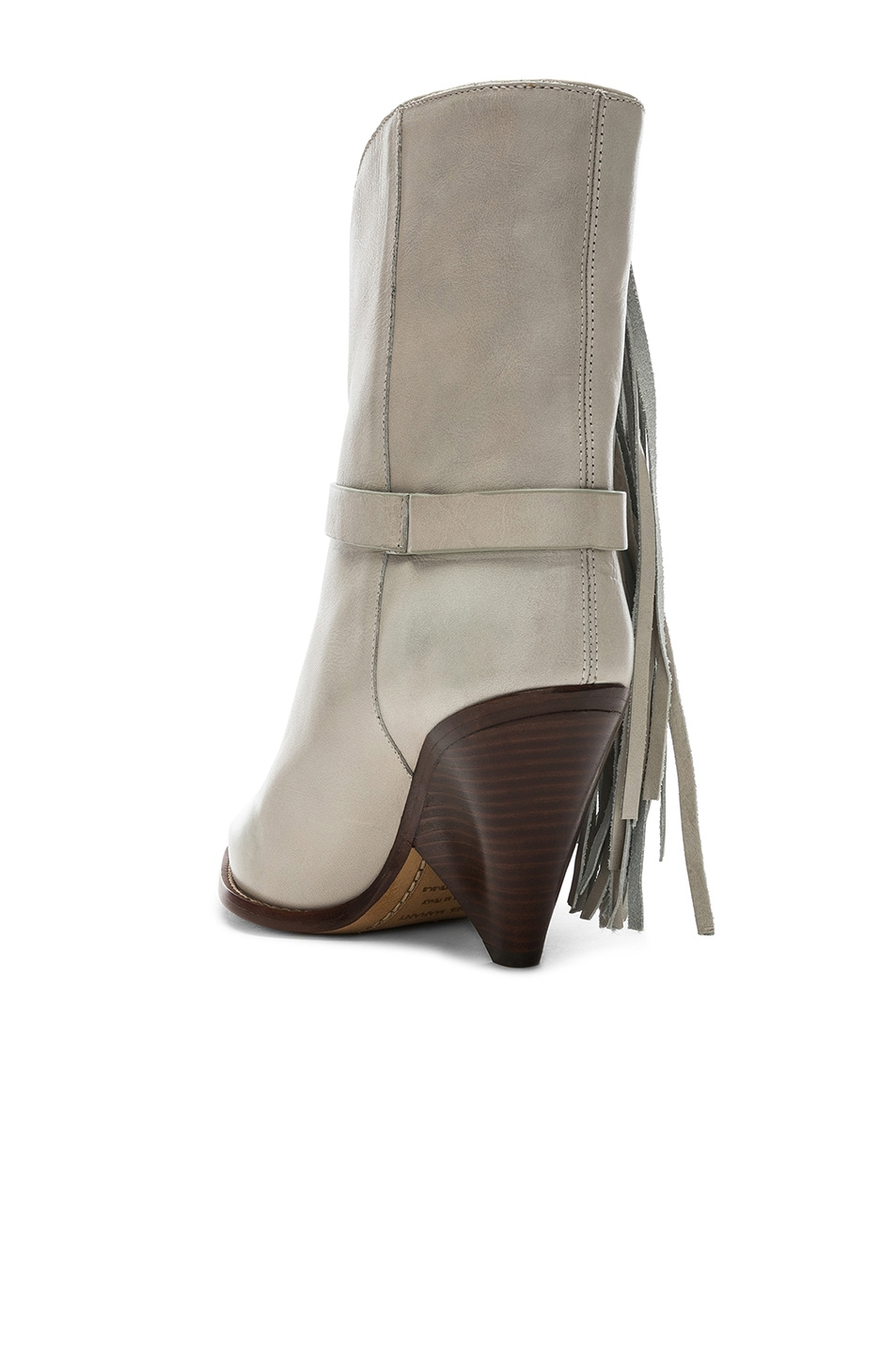 Image 3 of Isabel Marant Leather Loffen Boots in Chalk