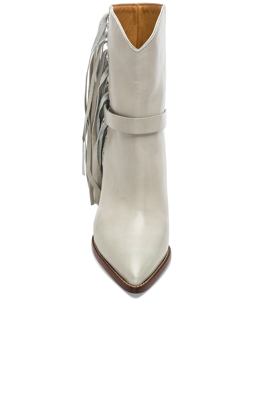 Image 4 of Isabel Marant Leather Loffen Boots in Chalk