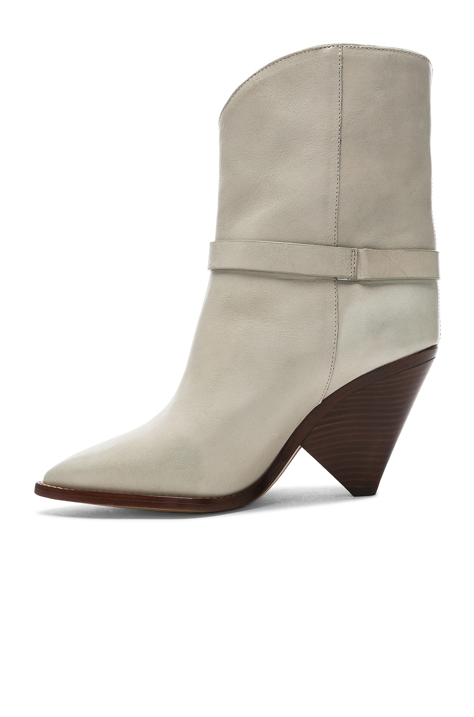 Image 5 of Isabel Marant Leather Loffen Boots in Chalk