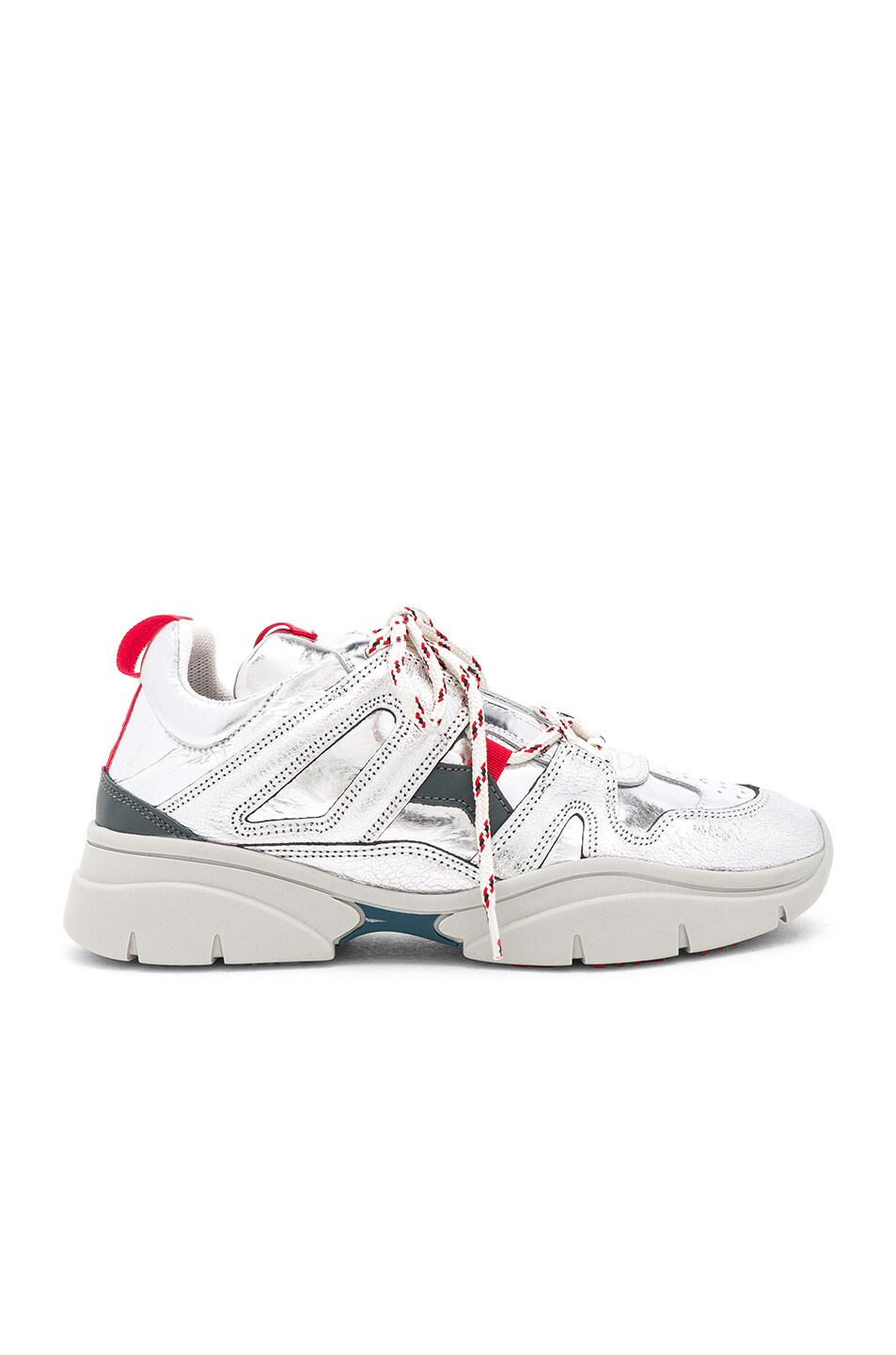 Image 1 of Isabel Marant Kindsay Sneakers in Silver
