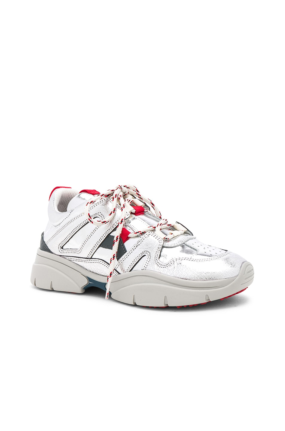Image 2 of Isabel Marant Kindsay Sneakers in Silver