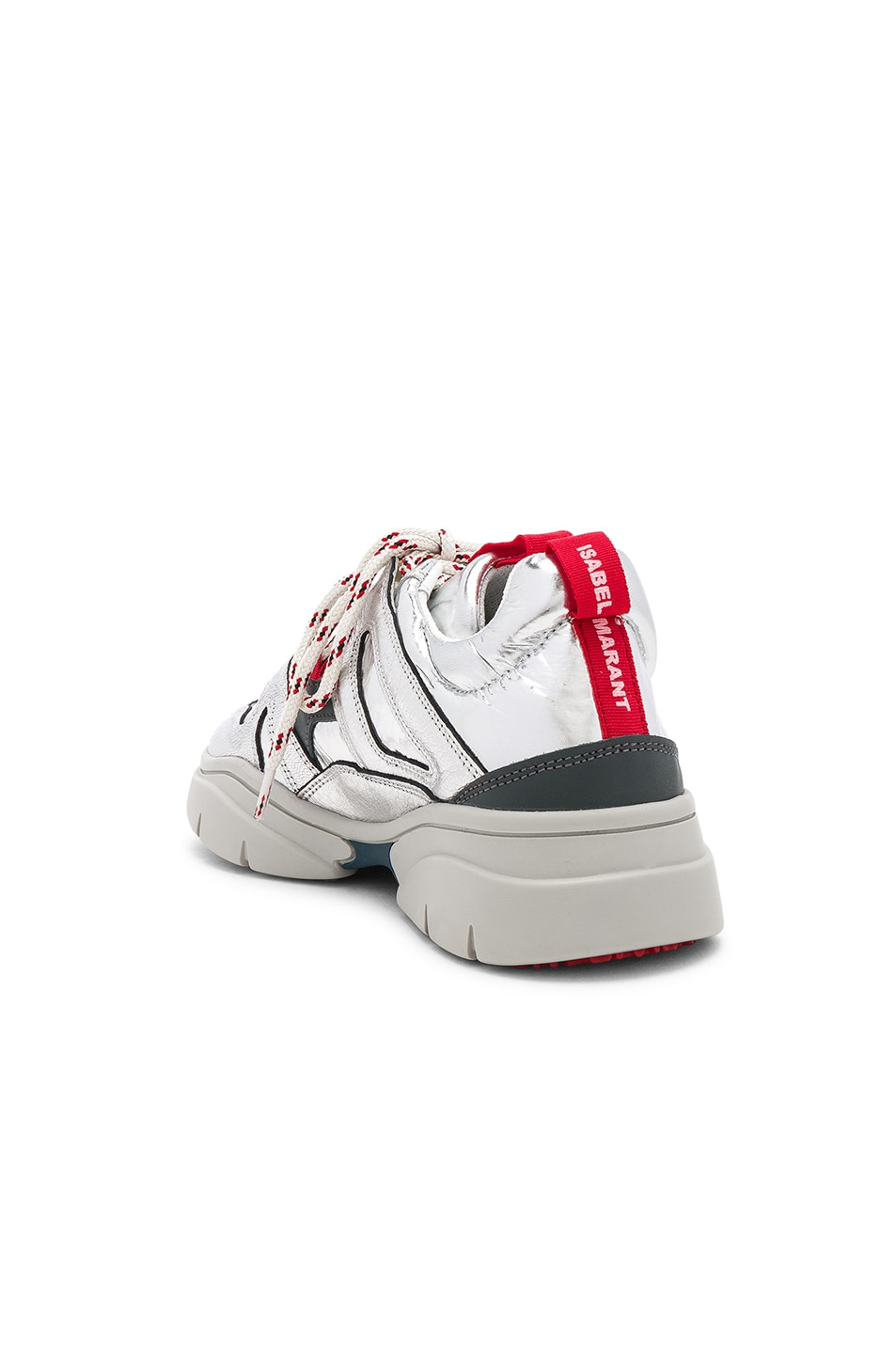 Image 3 of Isabel Marant Kindsay Sneakers in Silver