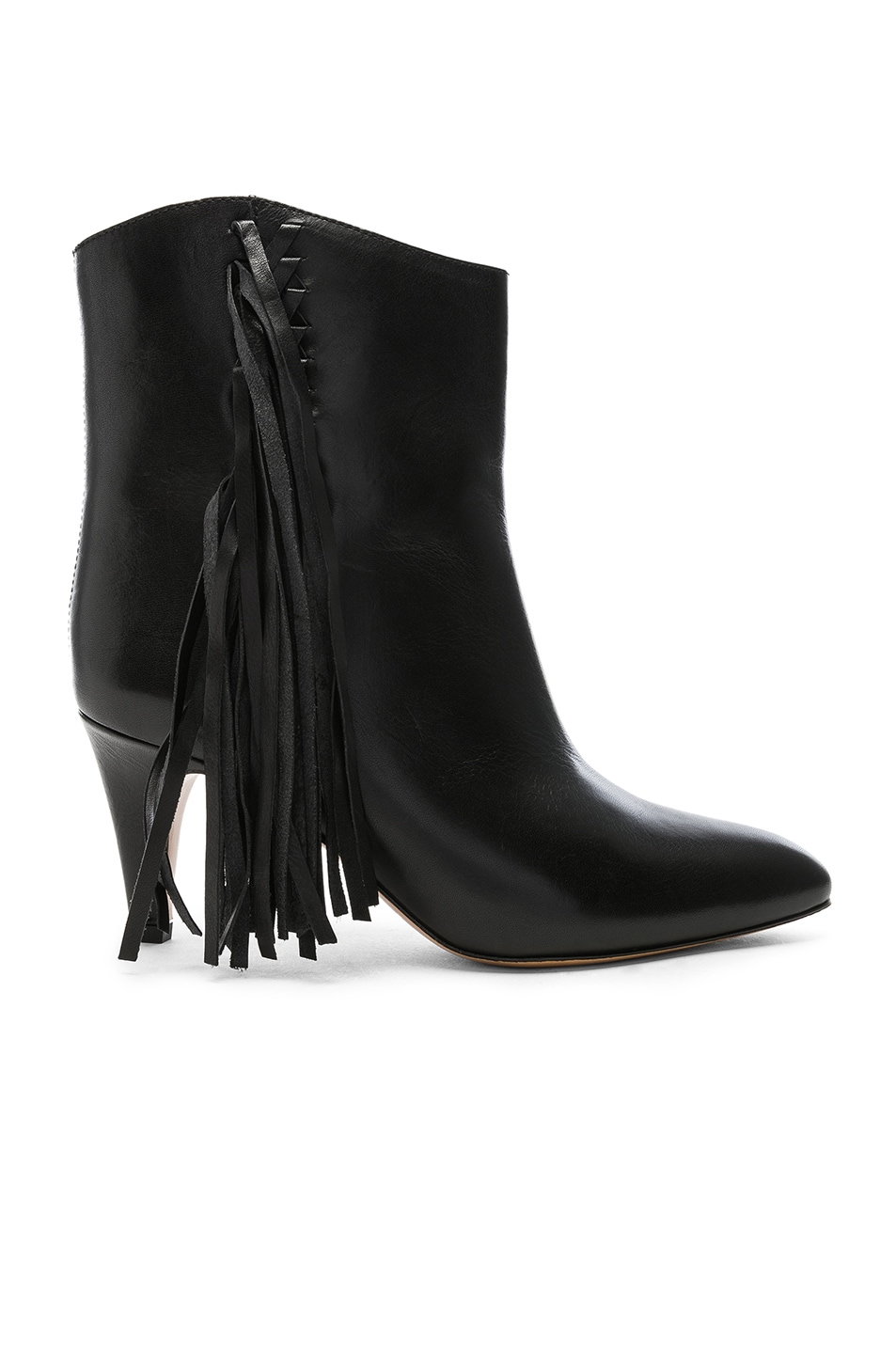 Image 1 of Isabel Marant Leather Dringe Boots in Black