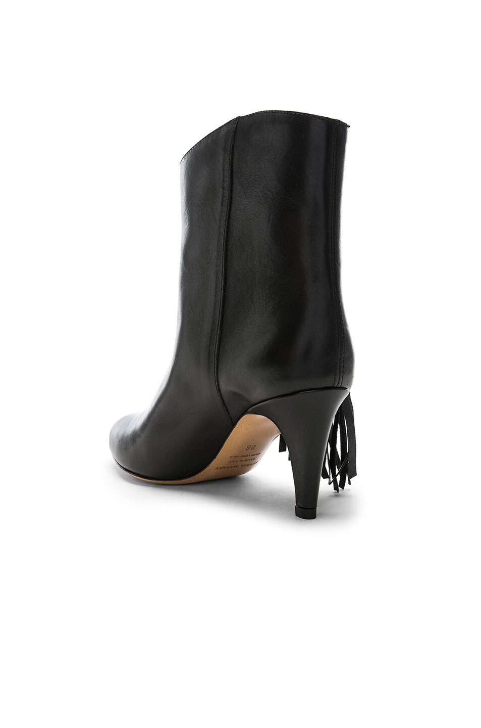 Image 3 of Isabel Marant Leather Dringe Boots in Black