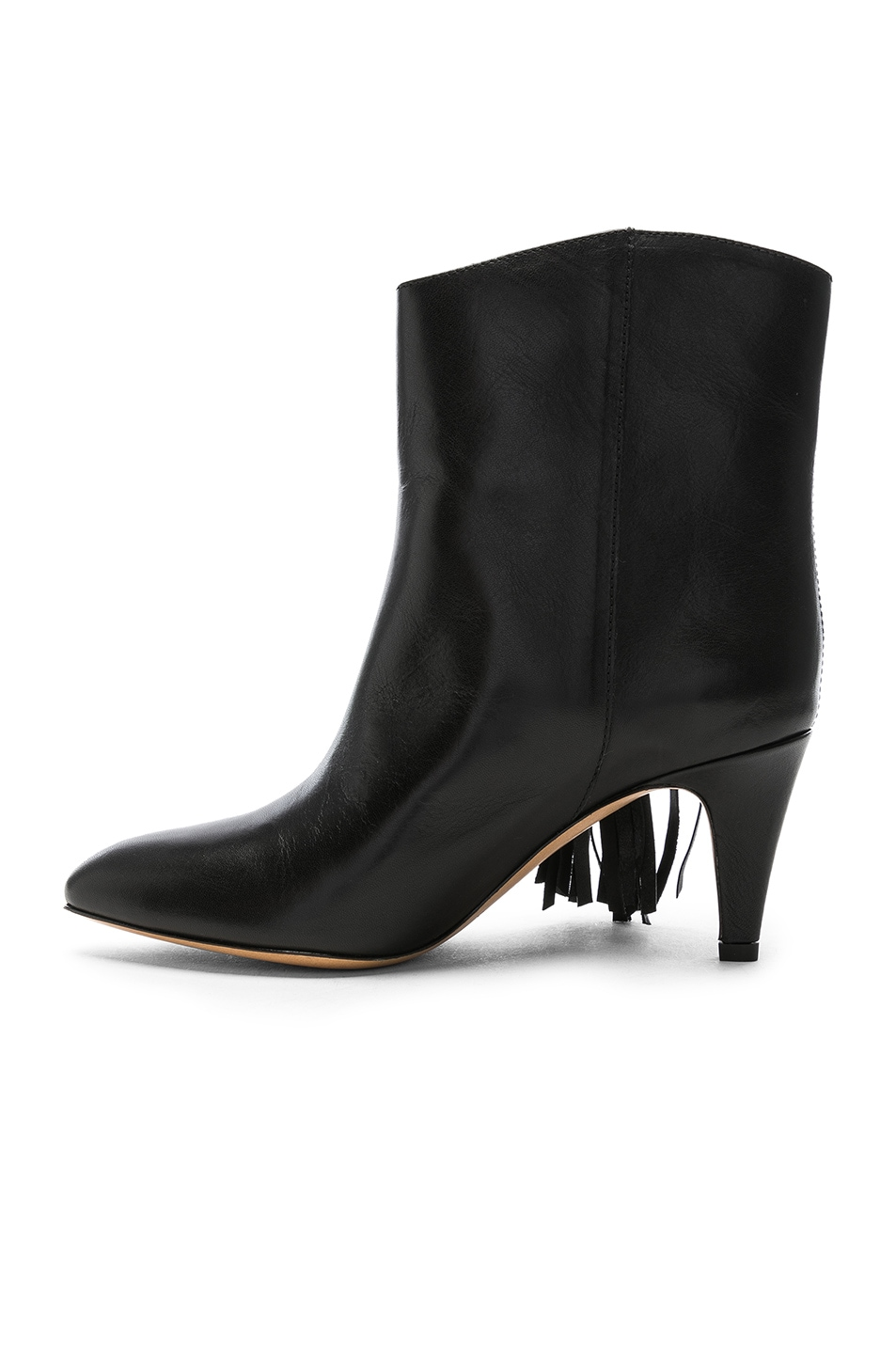 Image 5 of Isabel Marant Leather Dringe Boots in Black