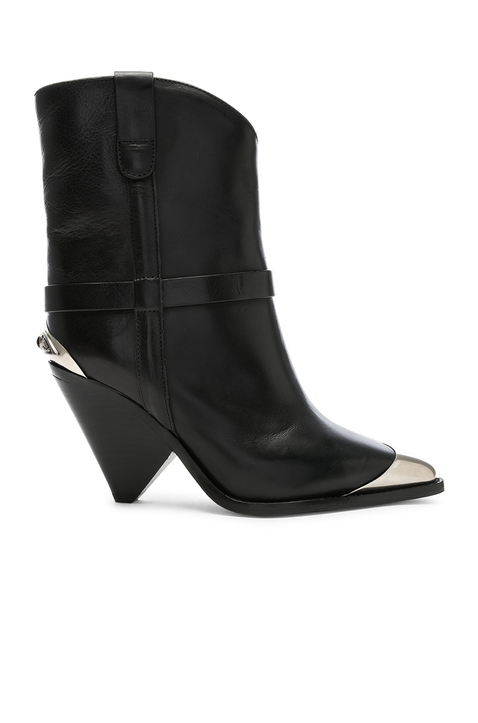Image 1 of Isabel Marant Leather Lamsy Boots in Black
