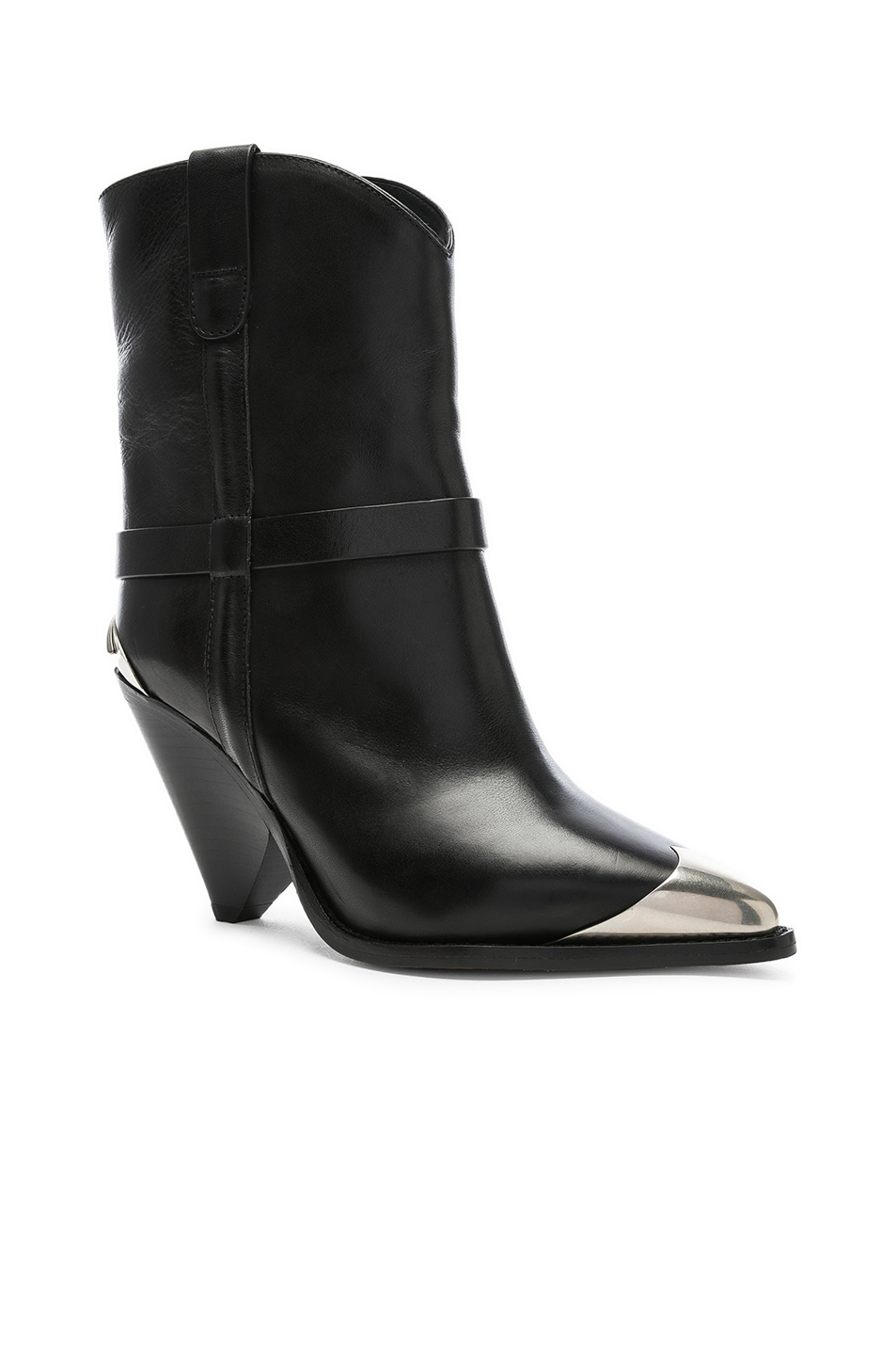 Image 2 of Isabel Marant Leather Lamsy Boots in Black