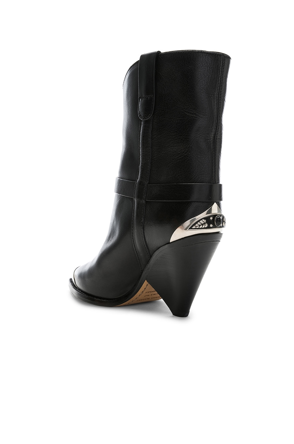 Image 3 of Isabel Marant Leather Lamsy Boots in Black