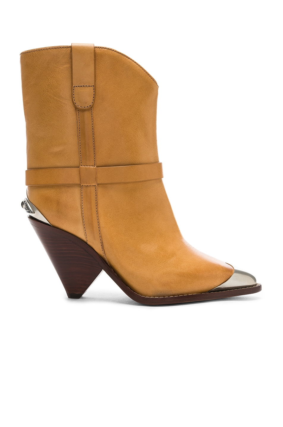Image 1 of Isabel Marant Leather Lamsy Boots in Natural