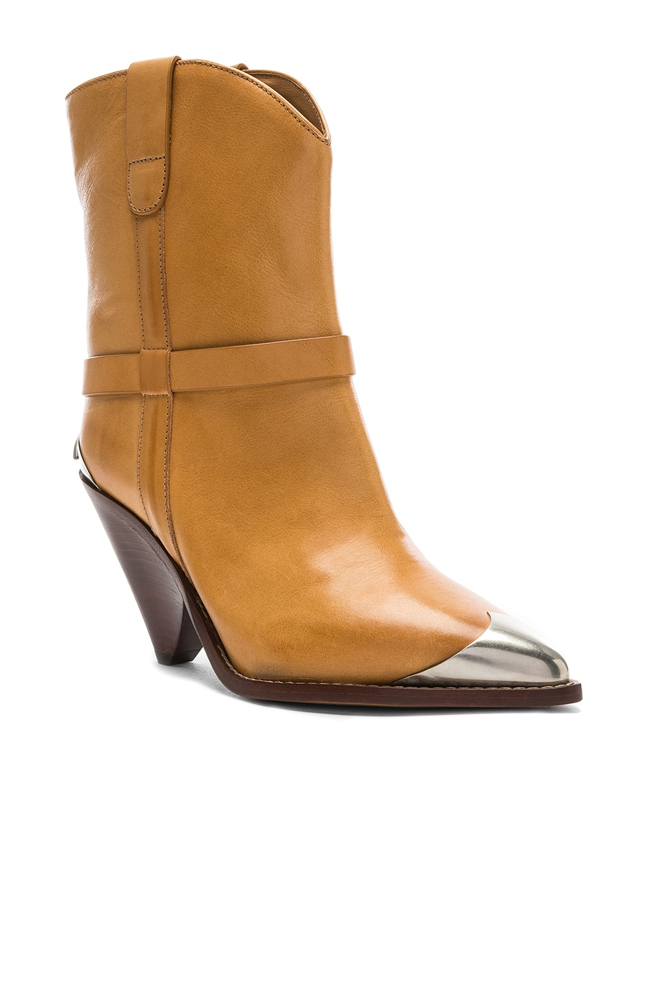 Image 2 of Isabel Marant Leather Lamsy Boots in Natural