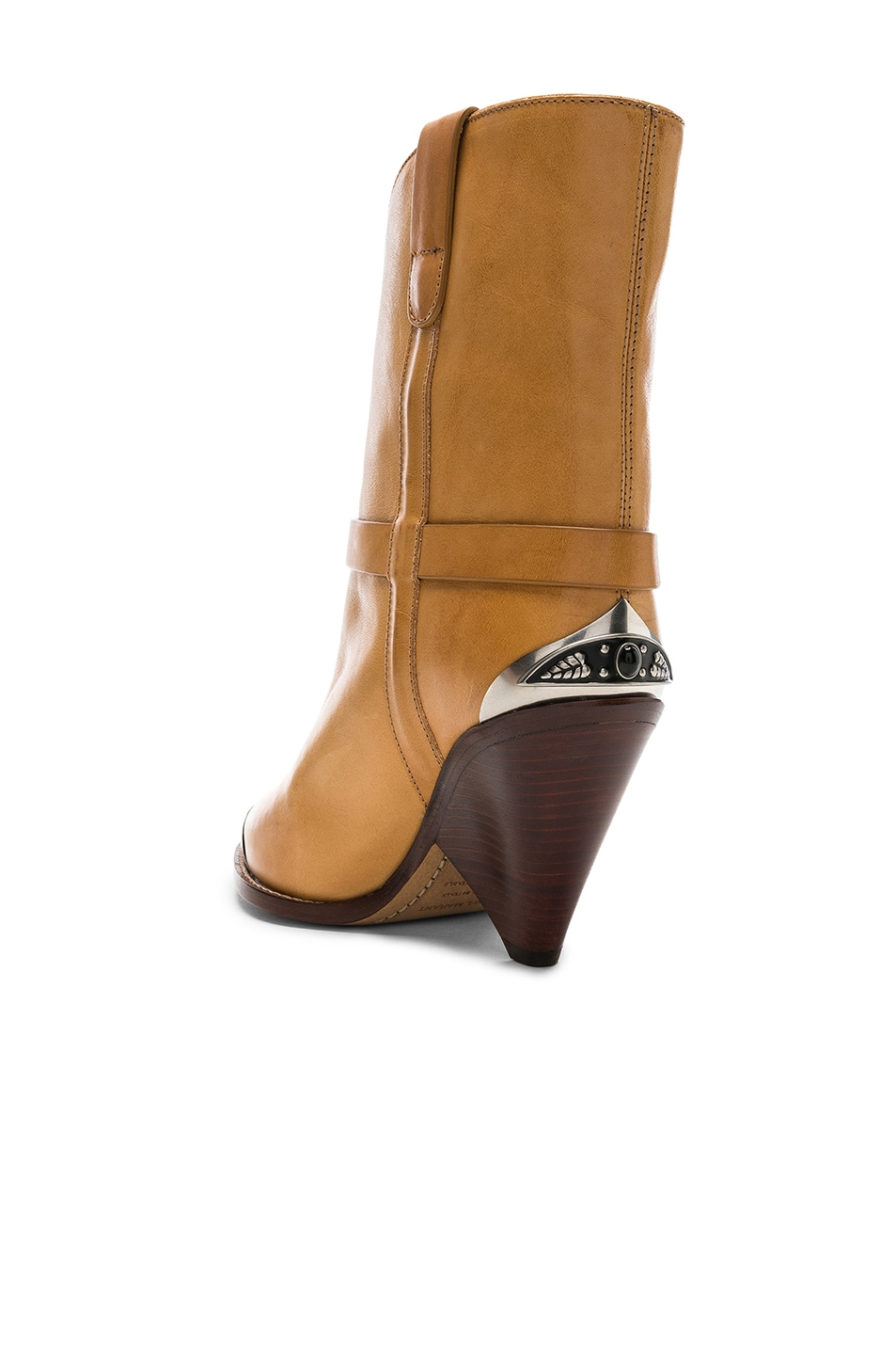 Image 3 of Isabel Marant Leather Lamsy Boots in Natural