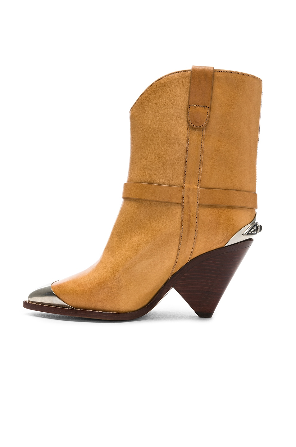 Image 5 of Isabel Marant Leather Lamsy Boots in Natural