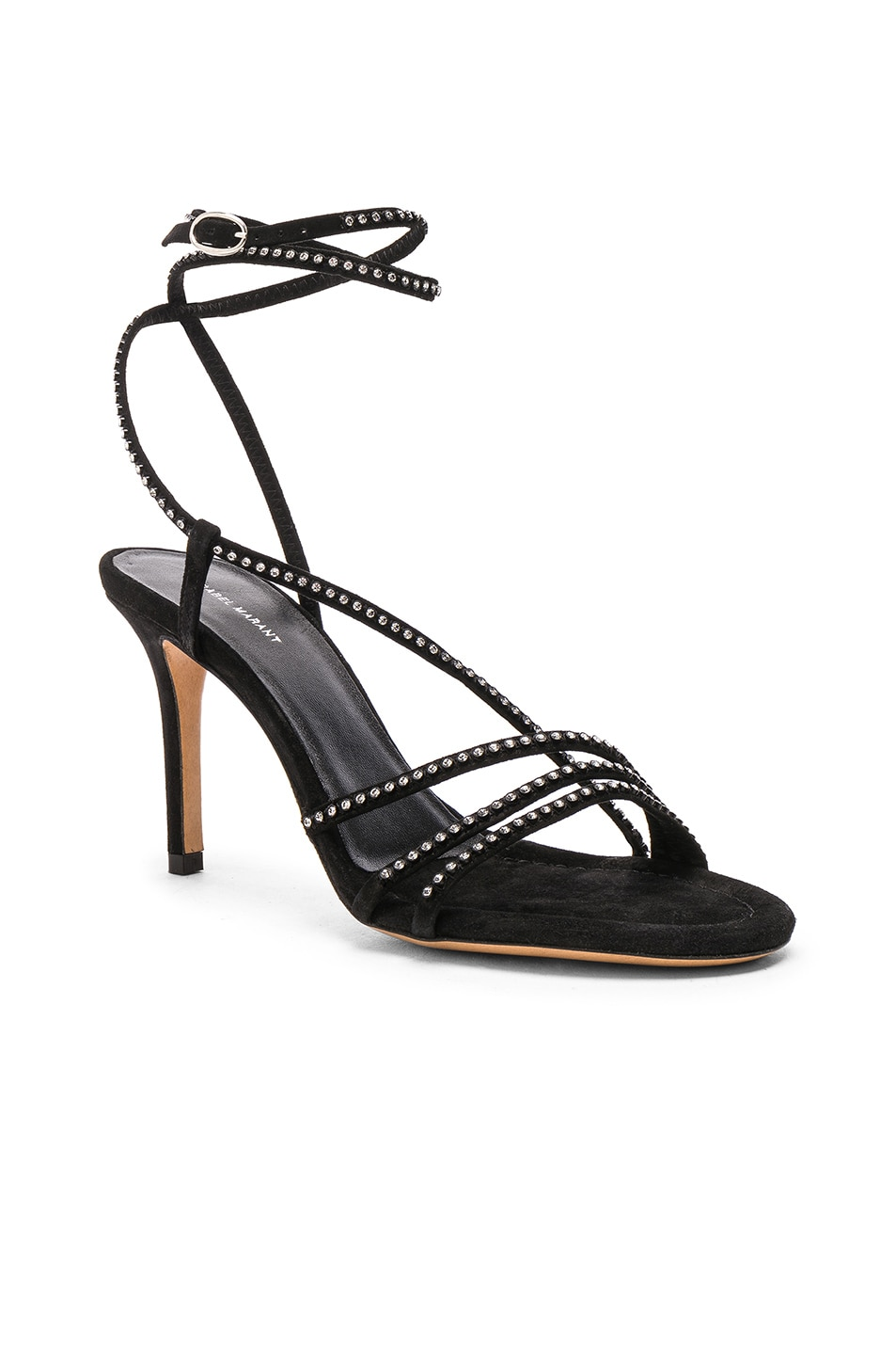 Image 2 of Isabel Marant Suede Amspee Sandals in Black