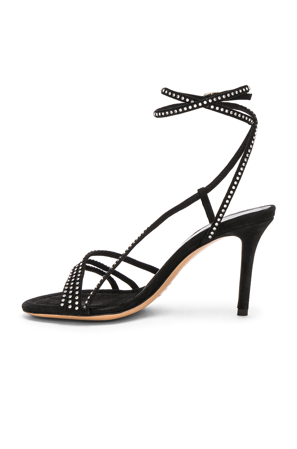 Image 5 of Isabel Marant Suede Amspee Sandals in Black