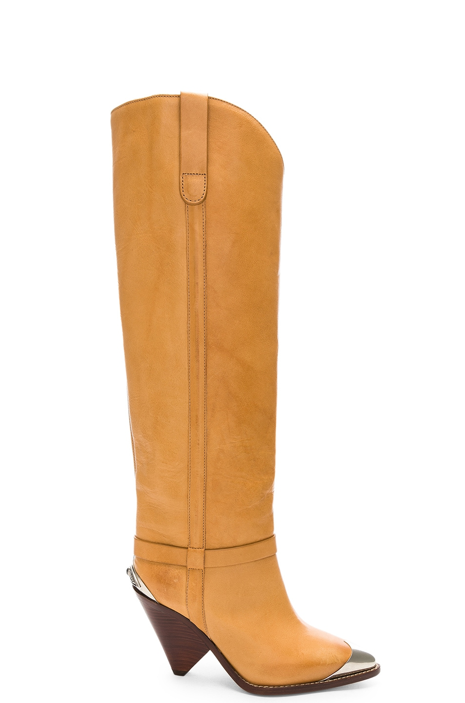Image 1 of Isabel Marant Leather Lenskee Boots in Natural