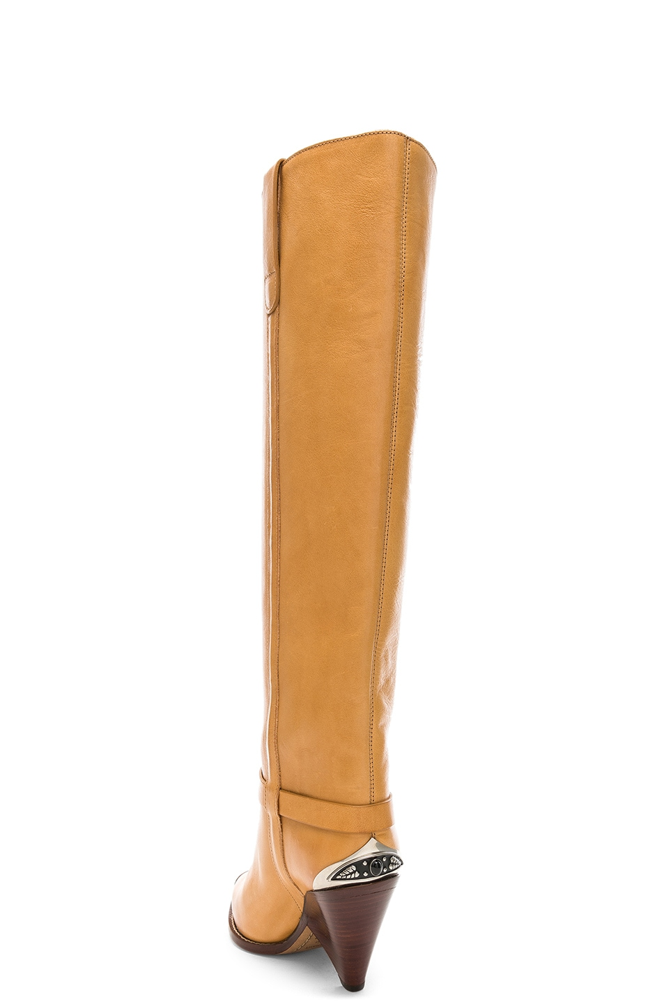 Image 3 of Isabel Marant Leather Lenskee Boots in Natural