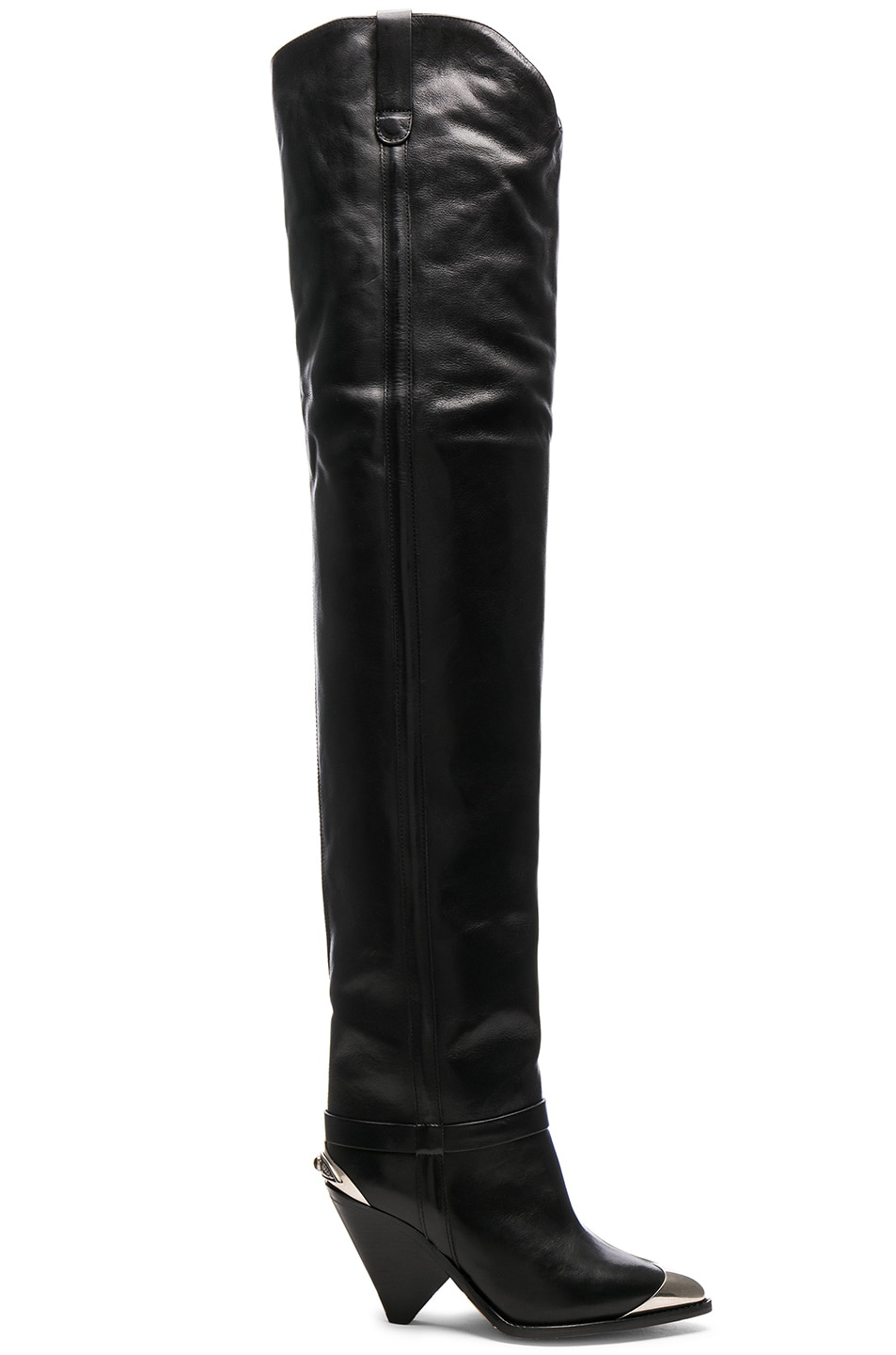 511e577932b Image 1 of Isabel Marant Leather Lafsten Boots in Black