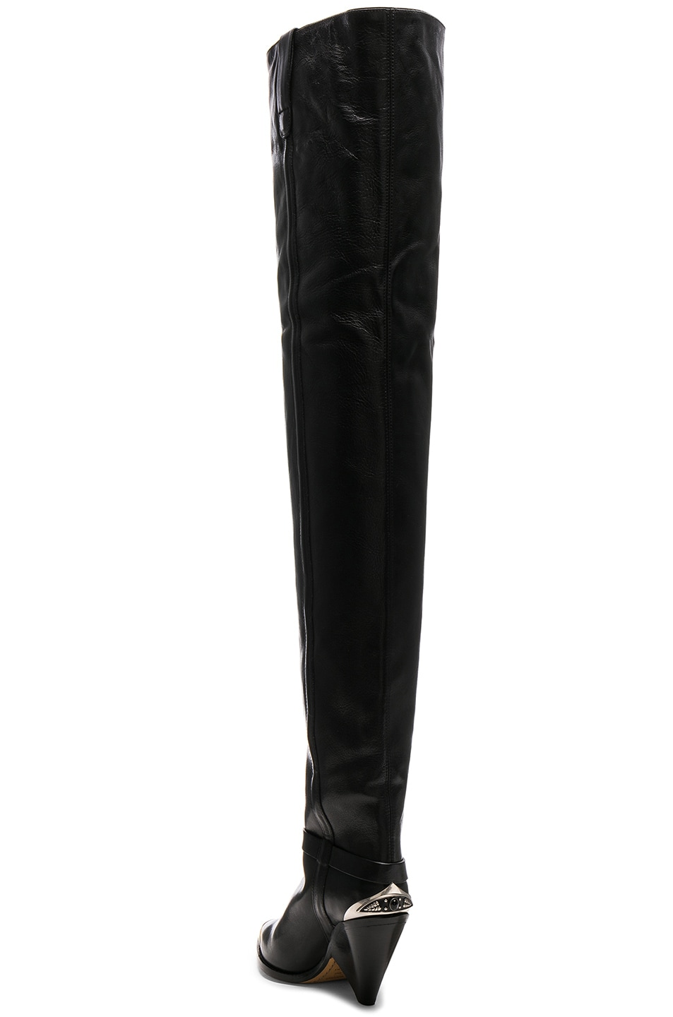 Image 3 of Isabel Marant Leather Lafsten Boots in Black