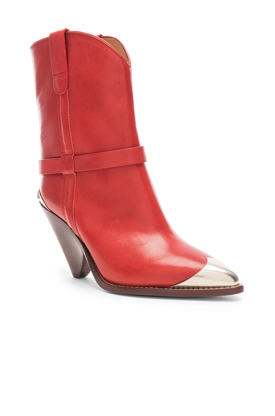 Image 2 of Isabel Marant Lamsy Boot in Red