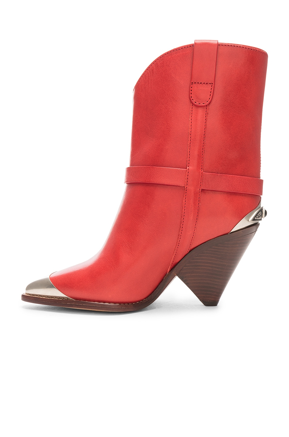 Image 5 of Isabel Marant Lamsy Boot in Red