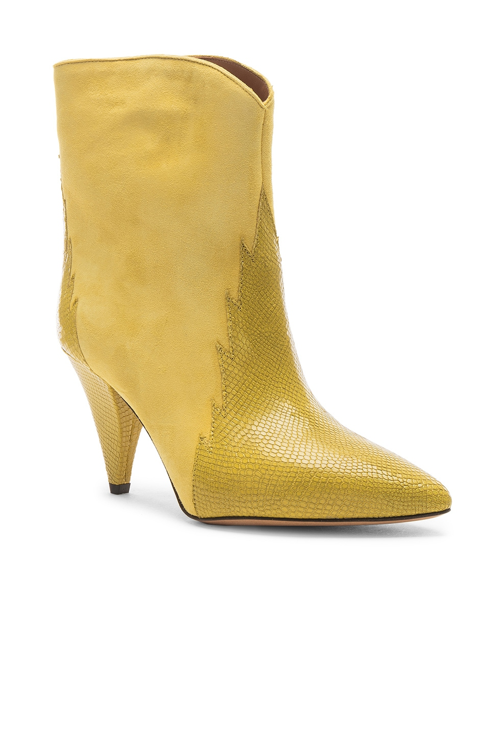 Image 2 of Isabel Marant Leider Boot in Yellow