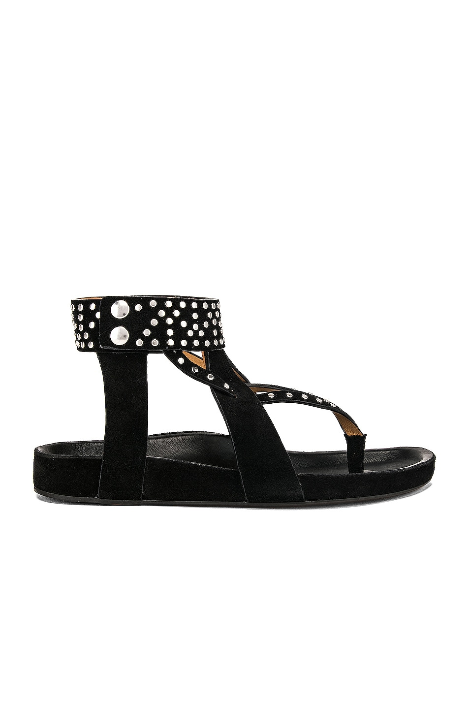 Image 1 of Isabel Marant Ellan Sandal in Black