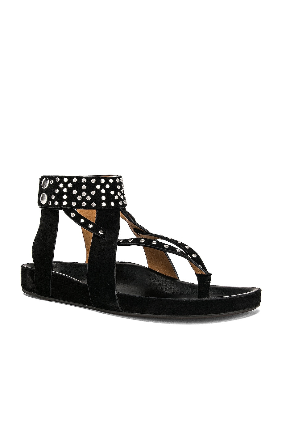 Image 2 of Isabel Marant Ellan Sandal in Black