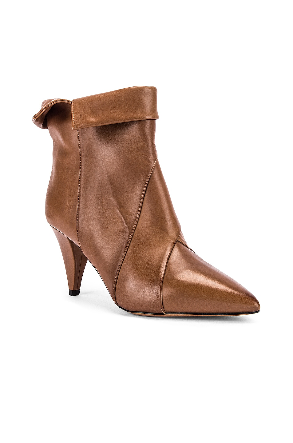 Image 2 of Isabel Marant Larel Leather Boot in Natural