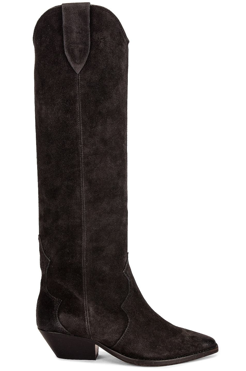 Image 1 of Isabel Marant Denvee Suede Boot in Faded Black