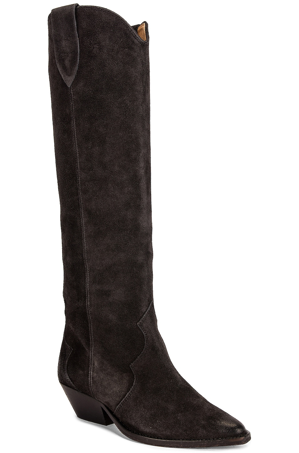 Image 2 of Isabel Marant Denvee Suede Boot in Faded Black