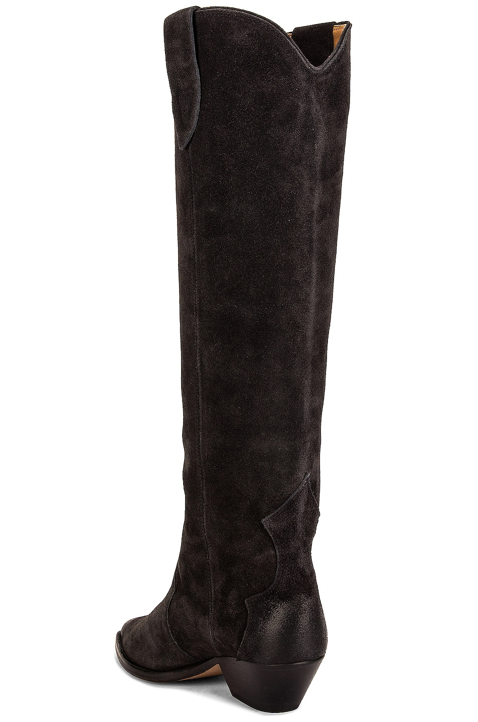 Image 3 of Isabel Marant Denvee Suede Boot in Faded Black