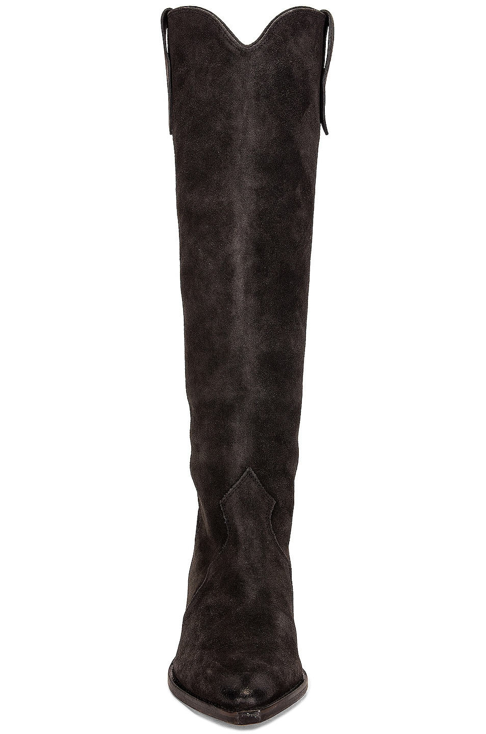 Image 4 of Isabel Marant Denvee Suede Boot in Faded Black