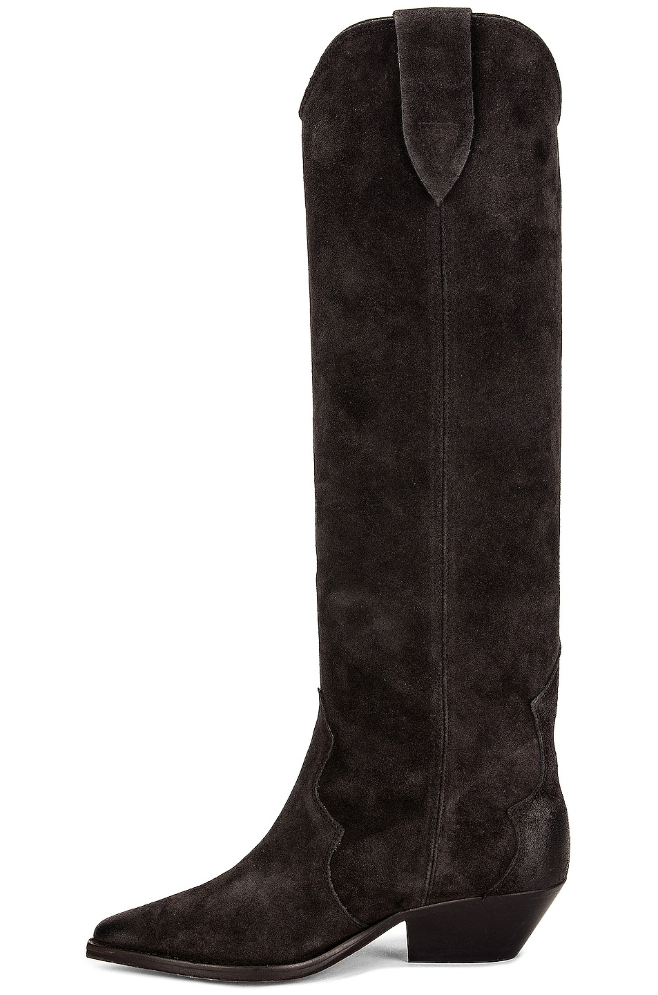 Image 5 of Isabel Marant Denvee Suede Boot in Faded Black