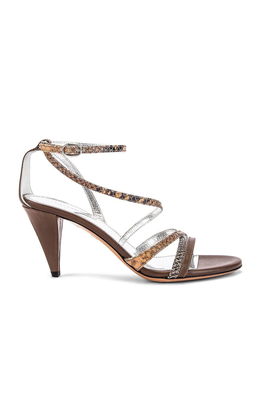 Image 1 of Isabel Marant Afka Sandal in Taupe & Camel