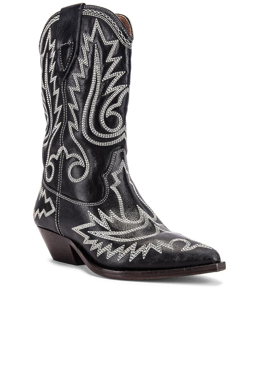 Image 2 of Isabel Marant Duerto Boot in Black & Ecru