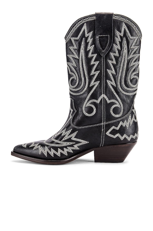 Image 5 of Isabel Marant Duerto Boot in Black & Ecru