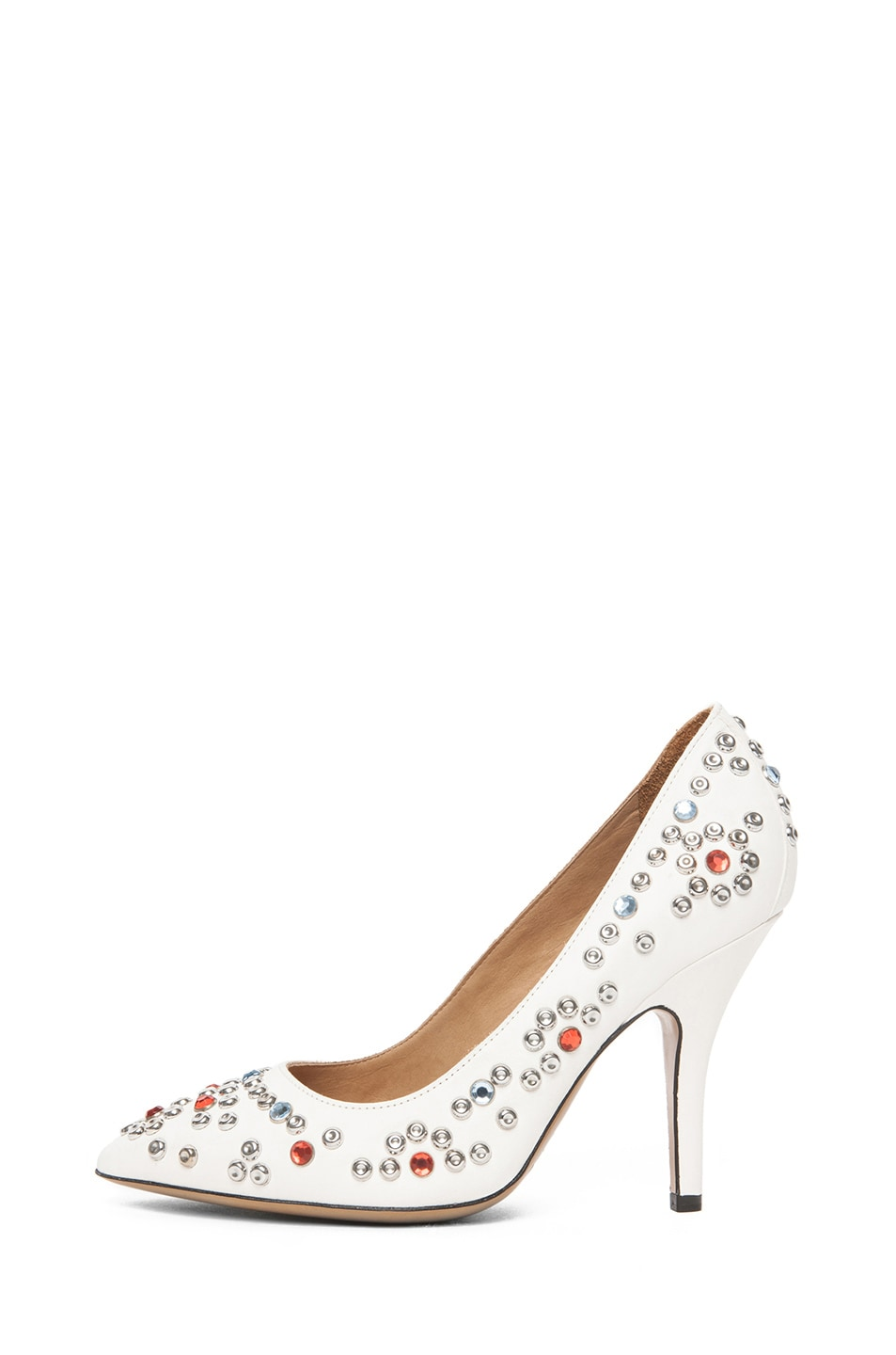 Image 1 of Isabel Marant Clemence Studded Heel in White