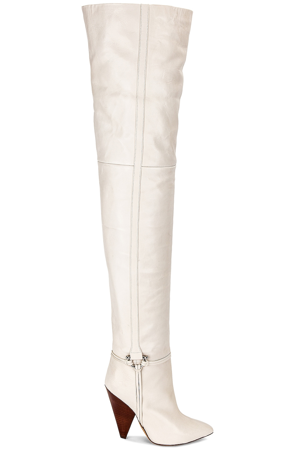 Image 1 of Isabel Marant Lage Over the Knee Boot in White