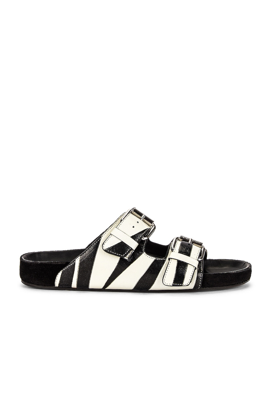 Image 1 of Isabel Marant Lennyo Sandal in White & Black