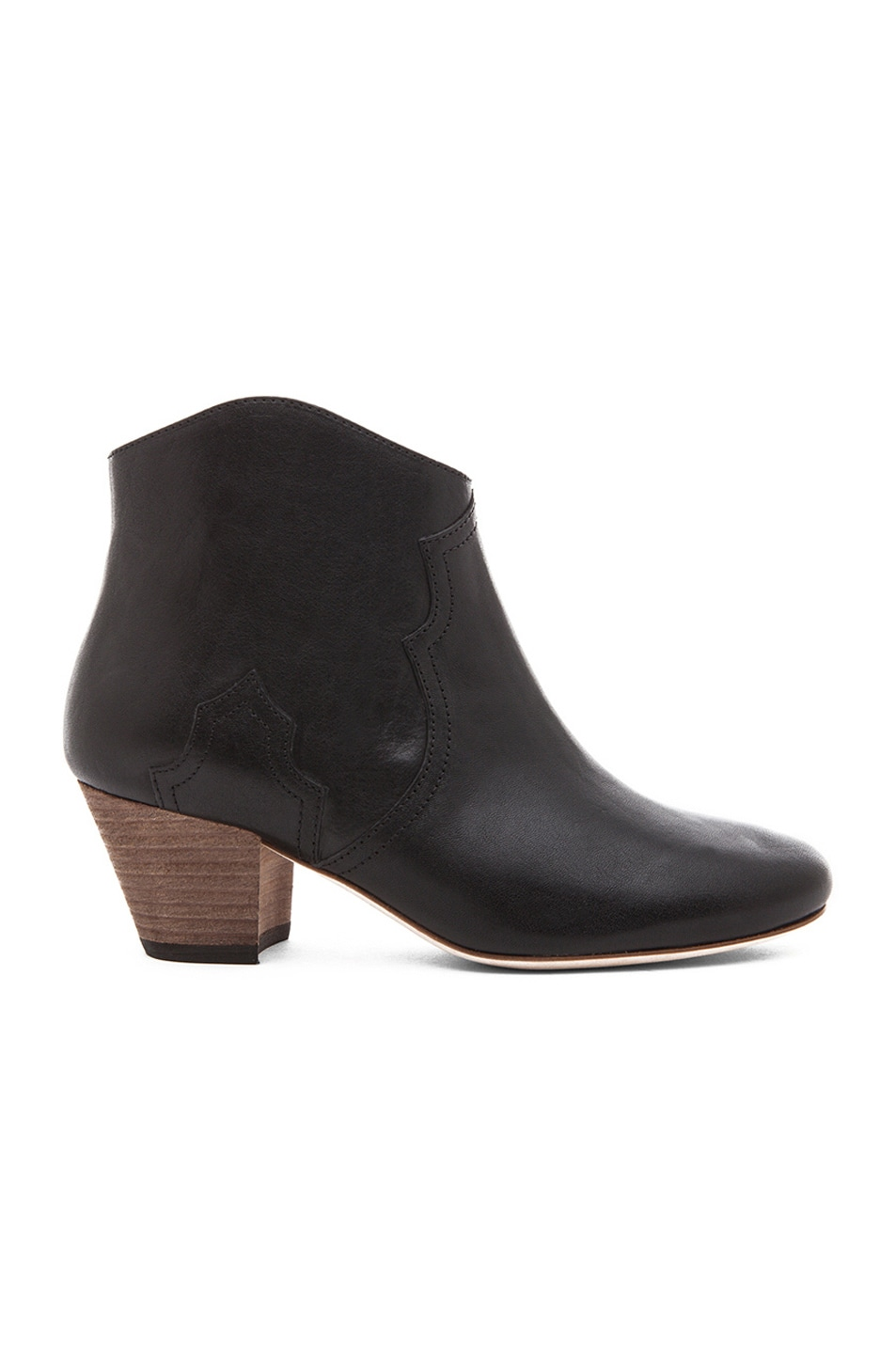 Image 1 of Isabel Marant Dicker Calfskin Leather Boots in Black