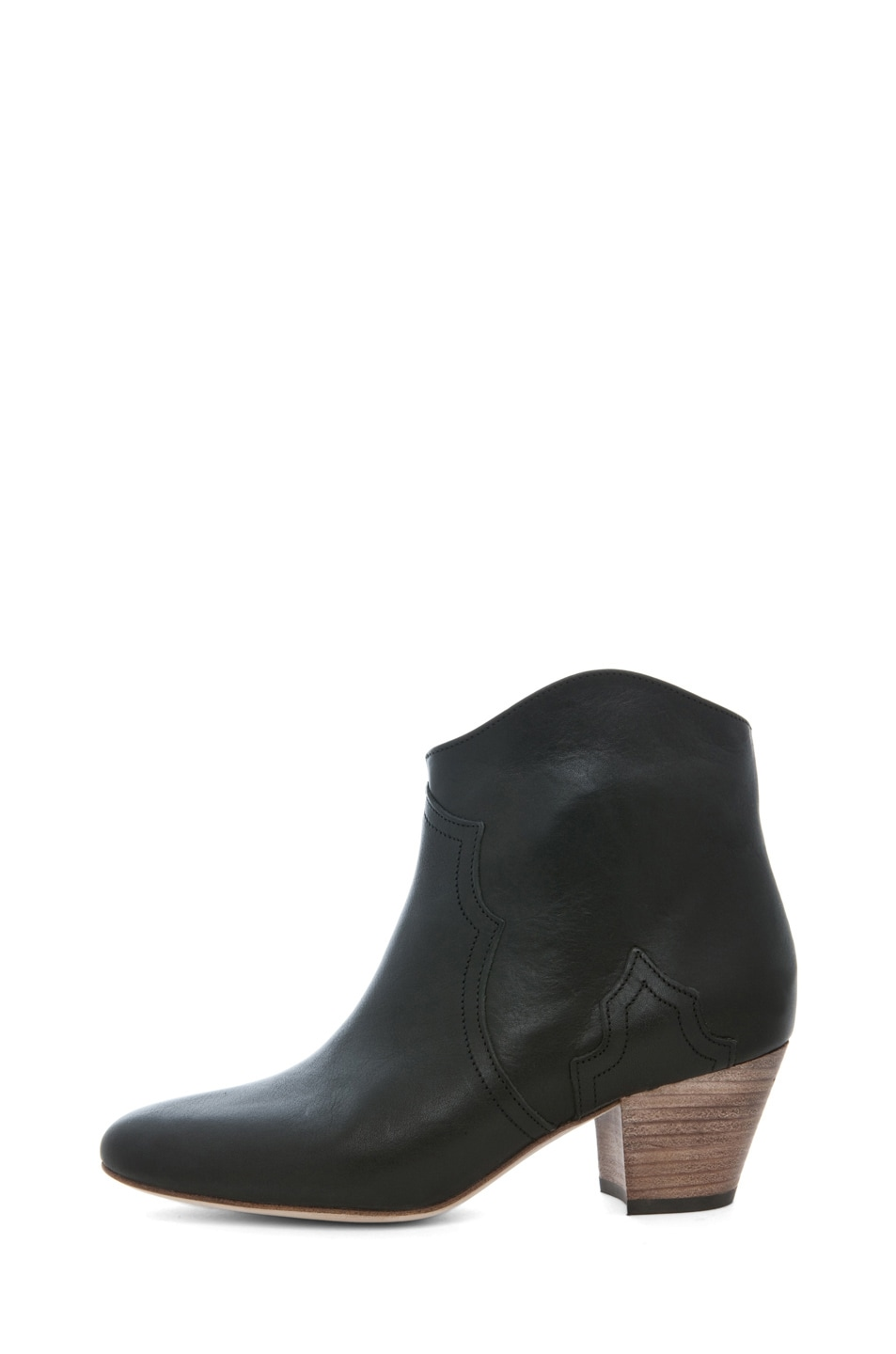 Image 1 of Isabel Marant Dicker Leather Bootie in Noir