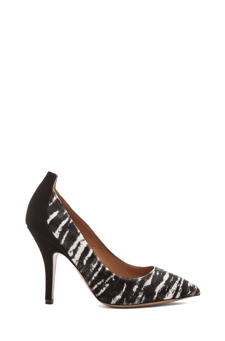 Image 1 of Isabel Marant Pippa Calf Hair Simple Pony Pumps in Anthracite